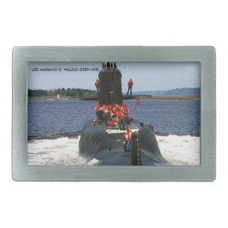 USS MARIANO G. VALLEJO RECTANGULAR BELT BUCKLES