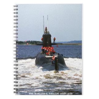 USS MARIANO G. VALLEJO SPIRAL NOTEBOOK