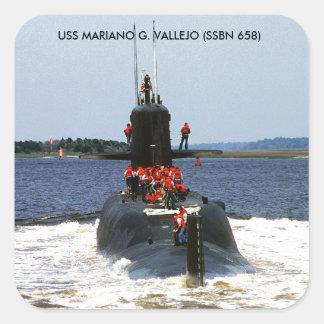 USS MARIANO G. VALLEJO SQUARE STICKER
