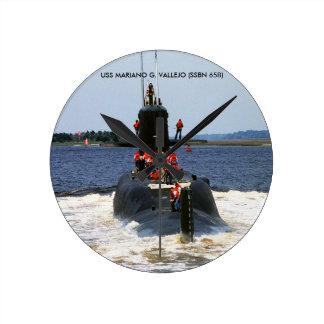 USS MARIANO G. VALLEJO WALLCLOCK
