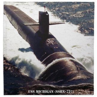 USS MICHIGAN NAPKIN