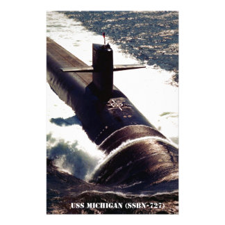 USS MICHIGAN STATIONERY