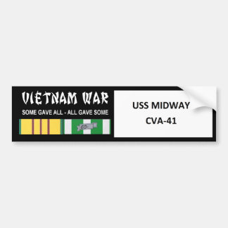 USS MIDWAY VIETNAM WAR VETERAN BUMPER STICKER