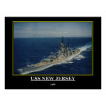 USS New Jersey 1968 Poster