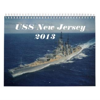 USS New Jersey Calendar