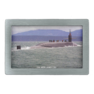 USS OHIO RECTANGULAR BELT BUCKLE