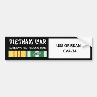 USS ORISKANY VIETNAM WAR VETERAN BUMPER STICKER