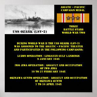 USS OZARK (LSV-2) POSTER