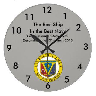 USS Peleliu Wall Clock