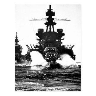 USS PENNSYLVANIA and battleship of_War Image Postcard