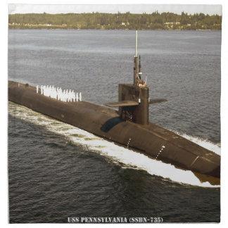 USS PENNSYLVANIA NAPKIN