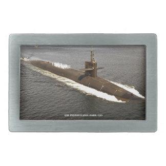 USS PENNSYLVANIA RECTANGULAR BELT BUCKLES