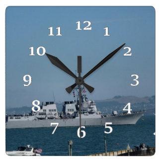 USS Preble Square Wall Clock