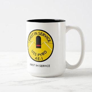 USS PYRO AE-1 COFFEE MUG