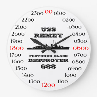USS Remey (DD-688) Large Clock