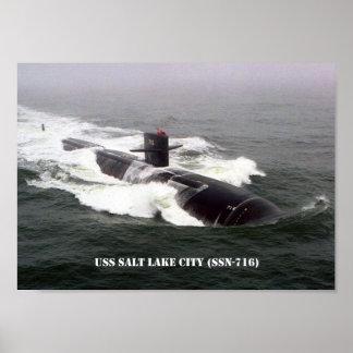 USS SALT LAKE CITY POSTER