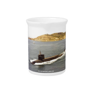 USS SAM HOUSTON DRINK PITCHER