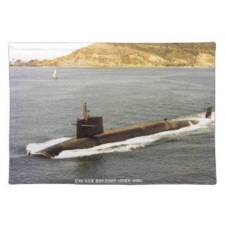 USS SAM HOUSTON PLACE MAT