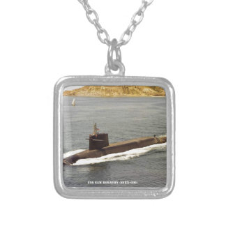 USS SAM HOUSTON SILVER PLATED NECKLACE
