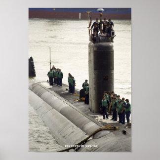 USS SANTA FE POSTER