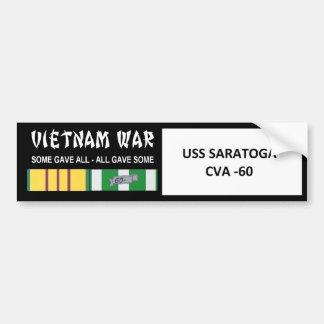 USS SARATOGA VIETNAM WAR VETERAN BUMPER STICKER