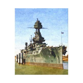 USS Texas Oil on Canvas