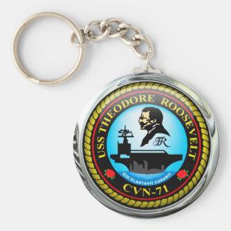 USS Theodore Roosevelt CVN-71 Basic Round Button Keychain