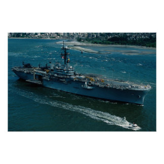 "USS Tripoli"", LPH 10 Helicopter assault ship Poster"