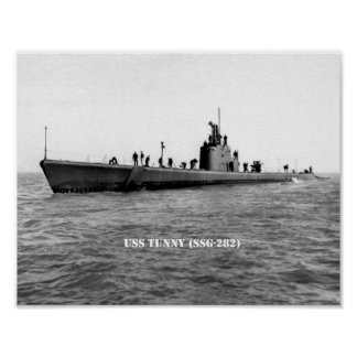 USS TUNNY POSTER