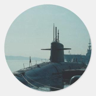 "USS Ulysses Grant"" ballistic missile submarine SSB Classic Round Sticker"