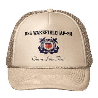 """USS WAKEFIELD (AP-21) """"Queen of the Fleet"""" Trucker Trucker Hat"""