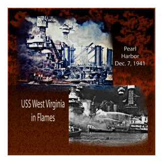 USS West Virgina, Pearl Harbor 1941 Poster
