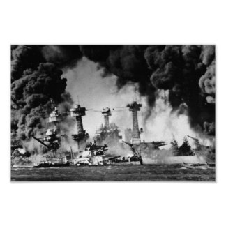 USS West Virginia at Pearl Harbor Poster