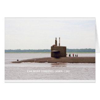 USS WEST VIRGINIA CARD