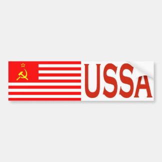 USSA Flag Bumper Sticker