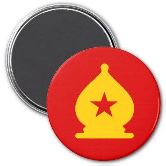 USSR Bishop - Zero Gravity Chess (CW) 3 Inch Round Magnet
