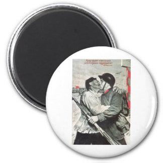 USSR CCCP Cold War Soviet Union Propaganda Posters 2 Inch Round Magnet