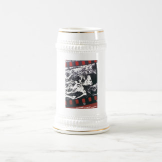 USSR CCCP Cold War Soviet Union Propaganda Posters Beer Stein