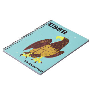 USSR Eagle vintage travel poster Notebooks