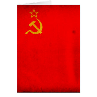USSR Flag Card
