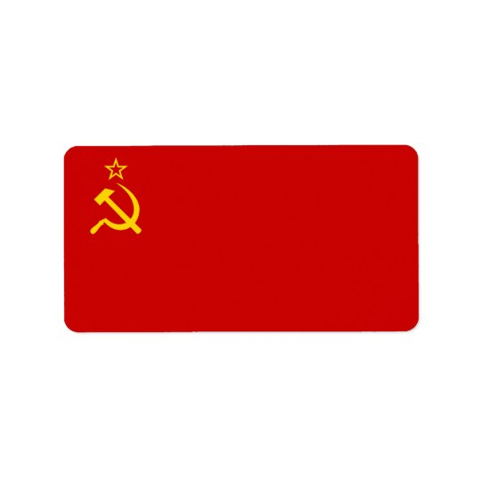 USSR flag Label