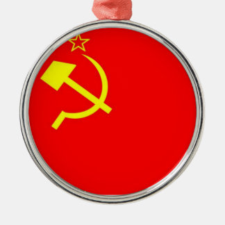 USSR Flag Metal Ornament