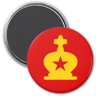 USSR King - Zero Gravity Chess (CW) 3 Inch Round Magnet