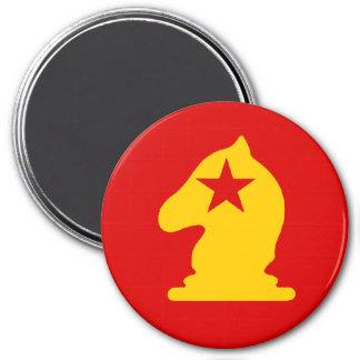 USSR Knight - Zero Gravity Chess (CW) 3 Inch Round Magnet