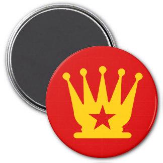 USSR Queen - Zero Gravity Chess (CW) 3 Inch Round Magnet