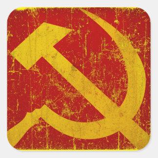 USSR Russia Hammer & Sickle Grunge Stickers