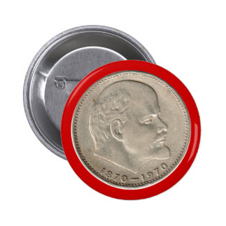 USSR Russia rouble USSR Russia Rouble Ruble Lenin 2 Inch Round Button