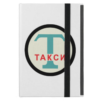 USSR / Russian Vintage / Retro Taxicab Stand Sign iPad Mini Cases