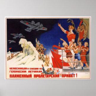 USSR Soviet Aviation SS Chelyuskin 1934 Print