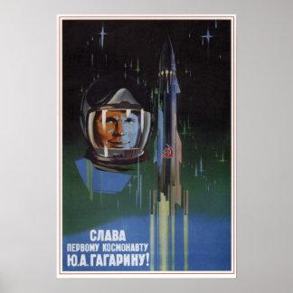USSR Soviet Aviation Y. A. Gagarin 1961 Poster